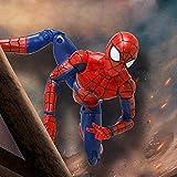 Spiderman Model Toy - Avengers 3/4 Infinity War Spiderman Action Figure Toys - 7 Pulgadas / 19cm Conjunto móvil - Colección de Regalo de Juguetes de cumpleaños para niños