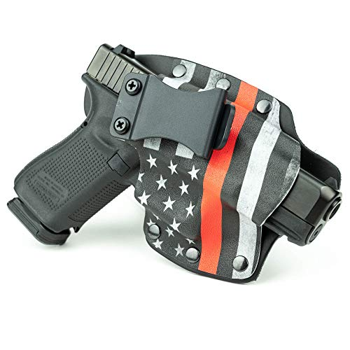 Infused Kydex USA Thin Red Line IWB Hybrid Concealed Carry Holster (Right-Hand, for Taurus 4510 PD Poly, Judge Public Defender)