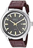 ESQ Men's Stainless Steel Watch w/ Brown Leather Strap FE/0173
