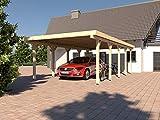 Prikker Carport Flachdach AVUS VIII 400x700 cm Konstruktionsvollholz KVH