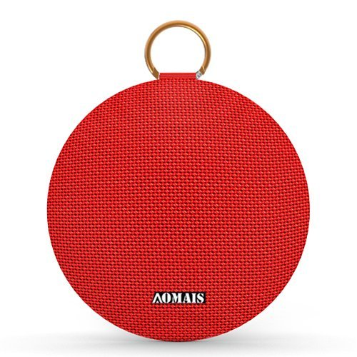 AOMAIS Ball Bluetooth Speakers, Wireless Portable Bluetooth Speaker IPX7 Waterproof, 15W Superior Surround Sound with DSP, Stereo Pairing for Outdoor,Travel,Shower,Beach,Party (RED)