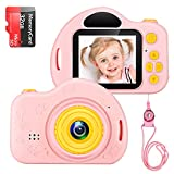 Kids Camera Toys for Age 3-9 Girls 1080P IPS...