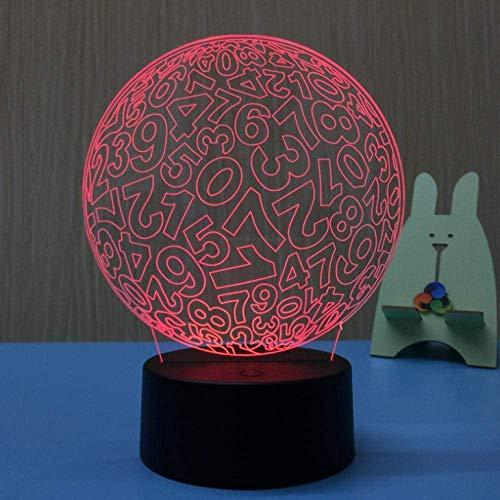 3D LED tafellamp nachtverlichting USB bolvorm LED illusie Atmosphere Vision LED lamp voor kinderen slaapkamer decor nieuw cadeau