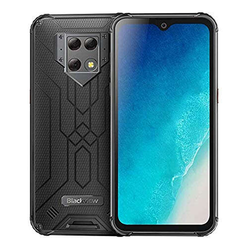 BV9800 6GB 128GB IP68強化スマートフォン6.3インチFHD +水滴Helio P70 Octa Core Android 9.0携帯電話NFC 6580mAh (黒)