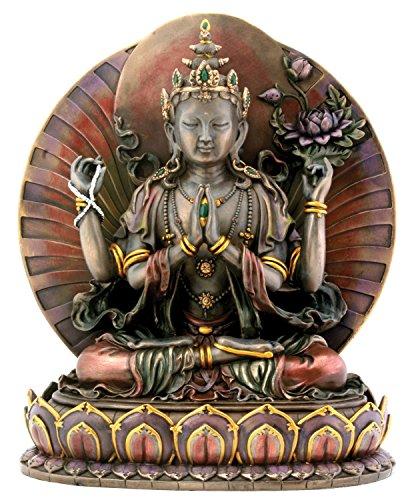 Große Avalokiteshvara tibetische Buddhismus-Statue, 25,4 cm hoch