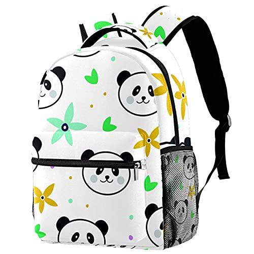 delayer Mochila de viaje unisex Lindo panda Mochila para portátil al aire libre de moda mochilas para niños y niñas
