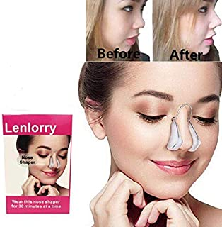 Lenlorry Nose Shaper Lifter Clip Nose Beauty Up Lifting Soft Safety Silicone Rhinoplasty Nose Bridge Straightener Corrector Slimming Device for Wide Crooked Nose Women Men Girls Ladies