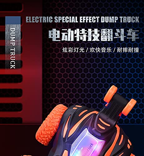 Camión volquete eléctrico con Ligero y música Stunt Infantil rodante de Juguete eléctrico