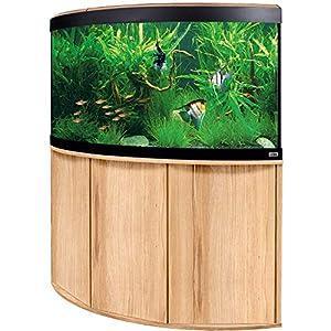 Aquariumkombination-Fluval-Venezia-190-mit-LED-Beleuchtung-Heizer-Filter-und-Unterschrank-Kernbuche