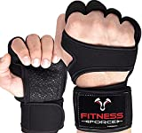 Fitness Force Ventilated Gym Gloves for Men with Built-in Wrist Support for Workouts Weightlifting Gloves Workout Gloves for Women Exercise Fitness Gloves Perfect for Powerlifting, Cross Training