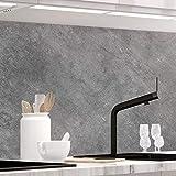 StickerProfis Küchenrückwand selbstklebend - 20GREY - 1.5mm, Versteift, alle Untergründe, Hart PET Material, Premium 60 x 400cm