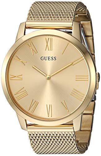 GUESS  Gold-Tone Stainless Steel Mesh Bracelet Watch. Color: Gold-Tone (Model: U1263G2)