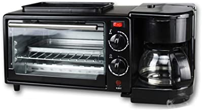 BTSSA Mini Horno Eléctrico de Sobremesa,Microondas con Grill,Máquina de Desayuno 3 en 1 máquina de café Pizza Tartas de Huevo máquina de Pan Frito,Temperatura hasta 230 ºC