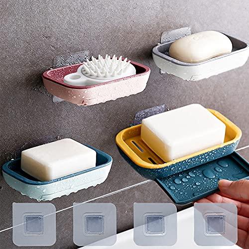 X-BLTU whatRUeed 4 Stück Seifenhalter,Seifenablage mit Bild