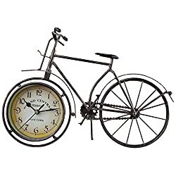 Antique Crafts Retro Vintage Style Bicycle Desk & Shelf Clock Modern Home Office Decoration Tabletop Display Ornament