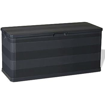 ghuanton Caja de Almacenamiento de jardín 90 L marrónMobiliario ...