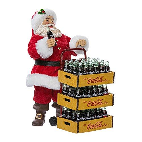 Kurt Adler Coca-Cola Babbo Natale con carrello di consegna, 10,5 cm, set da 2
