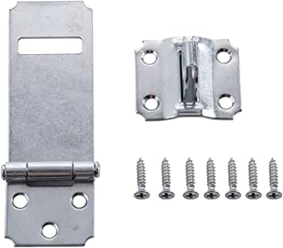 Home Master Hardware 3-1/2 in Adjustable Staple Safety Padlock Hasps Door Clasp Hasp Lock Latch Zinc Plated with Screws 30 Pack