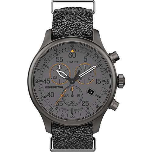 Timex Grey Band Men's Dial Chronograph Fabric Expedition Field Tw2t72900 Watch oeBWdCxr