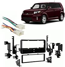 Compatible with Scion xB 2004-2015 Single DIN Aftermarket Stereo Harness Radio Install Dash Kit