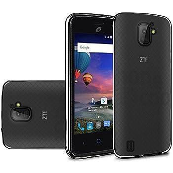 ALEONE TPU Flexible [Scratch Resistant] Shockproof Skin Gel Case Phone Cover for ZTE Jasper LTE Z718TL  TPU Black