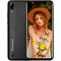 "Blackview A60 Smartphone Dual SIM con Pantalla 6.1"" (15.7cm) Water-Drop Screen, 13MP+2MP+5MP, 16GB ROM (SD 128GB), 4080mAh Batería Smartphone Libre, Android 8.1 Telefono Movil, GPS/WiFi-Negro"