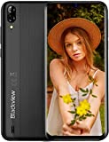 Blackview A60 Teléfono Móvil 2GB+16GB (128GB SD), Pantalla 6.1' (19.2:9) Water-Drop Screen Movil Barato, 13MP+2MP+5MP, 4080mAh Batería, Android 10 Smartphone Libre Dual SIM, GPS/WiFi/Hotspot-Negro