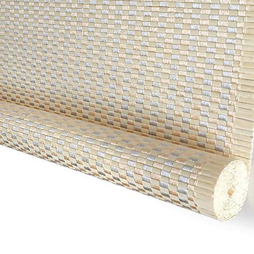 WXQ Bambusvorhang Rollo Shades, wasserdichte Anti-Schimmel-Lack-Behandlung Pavilion Außen Roll Up Rolläden (Size : 50X80CM)