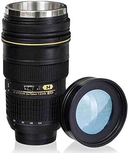 Stainless Steel Travel Coffee Mug - Nikon 24-70mm