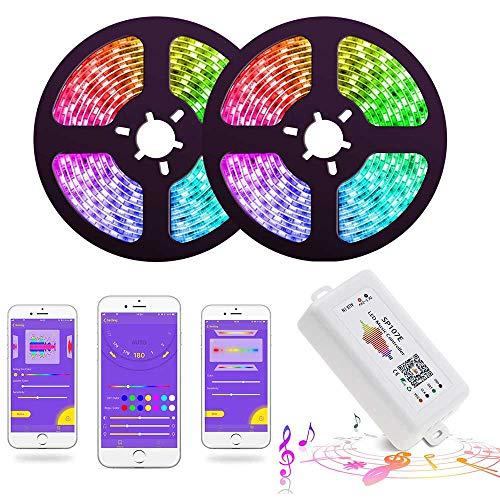 NoBrand Musique LED Strip Lights Strip Sp107E Bluetooth Controller Strip Lights Dreamcolor Smart Phone App Control, Rope Lights LED