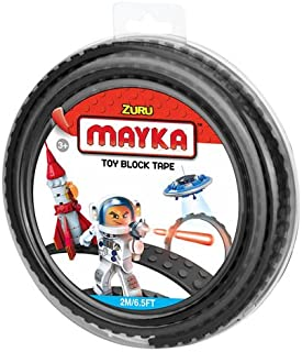 2 Stud Mayka Toy Block Tape 6.5 ft Black