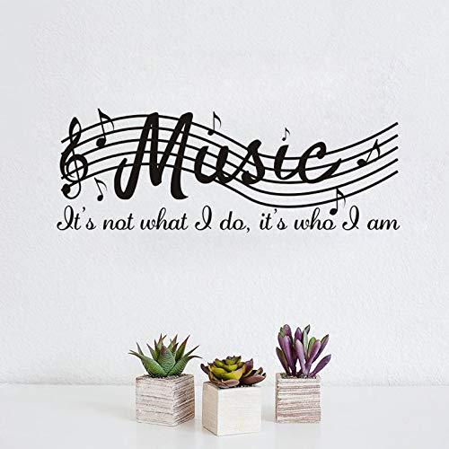 JXFM Muurstickers zelfklevend bar muziek piano klavier klas wanddecoratie PVC sticker afneembaar 71,1 cm x 25,4 cm