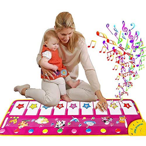 JHSH Musikmatte für Kinder, Klaviermatte, Touch-Spiel, Tanz, Musik-Teppich, Tier-Decke, Baby Early Education, Spielmatte Spielzeug für Kinder Geschenk