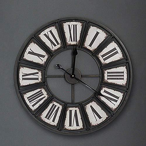 Nostalgic Iron Art wandklok, Amerikaanse Oude Retro Antieke Rustieke stijl Klassieke Sticker Cijfer Wall Clock Decoratie van de Ambacht alarm clock