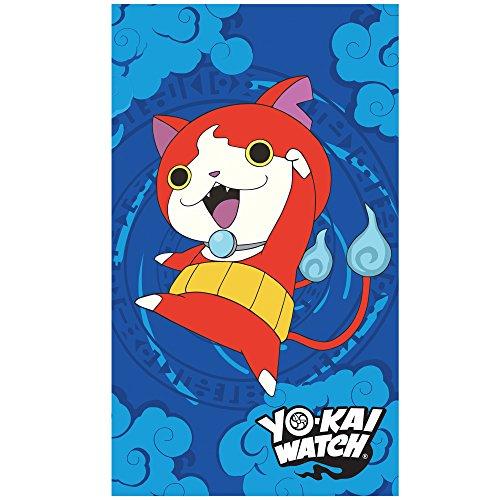 CTI 044724–Toalla de Playa Yo-Kai Watch Gang, algodón Azul, 320g/m², 120x 70cm