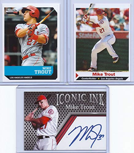 SPORTS ILLUSTRATED (3) Mike Trout Autographed (3) Card Rookie LOT!