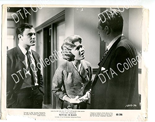 MOVIE PHOTO: PORTRAIT IN BLACK-SANDRA DEE-JOHN SAXON-1960-CRIME-DRAMA-THRILLER FR/G