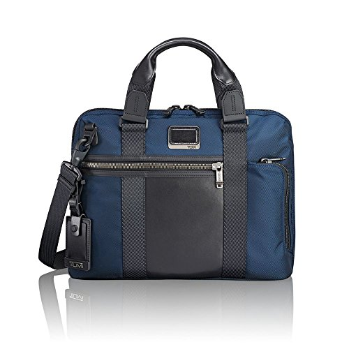 Tumi Alpha Bravo - Charleston Compact Brief 14' Briefcase, 38 cm, 8.81 liters, Blue (Navy)