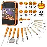 Pumpkin Carving Kit - Heavy Duty Stainless Steel Pumpkin Carving Knives,Pumpkin Carving Tools Set...