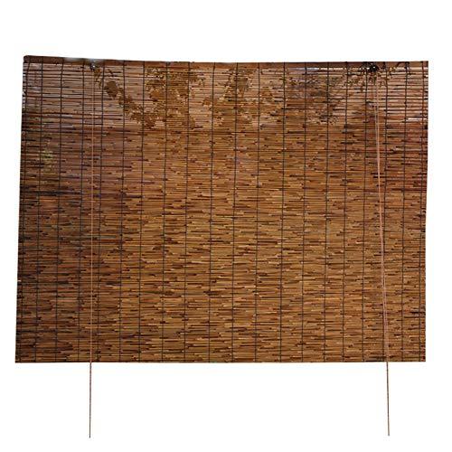 ZXLL Persiana Estor De Bambú,Ancho 70 • 90 • 120 • 130cm,persianas Enrollables,Fácil De Instalar,persiana Bambu Exterior,Premium Retro,Jardín -Aire Libre -Galería,estores Exteriores