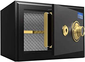Security Lock Boxes Safe, Small Mechanical Key Box Office Home No Alarm System Suitable for 15-inch Laptops, Folders, 35X3...