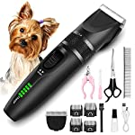 【Will not stuck or pull pets coat】Dog clippers using latest technology titanium + ceramic professional blade,upgraded sharp blade can be trimmed fluently for pets and do not harm pets skin or pull coat. Mature craftsmanship - design of acute angle bl...