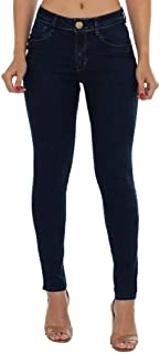Calça Jeans Denuncia Mid Rise Skinny Azul