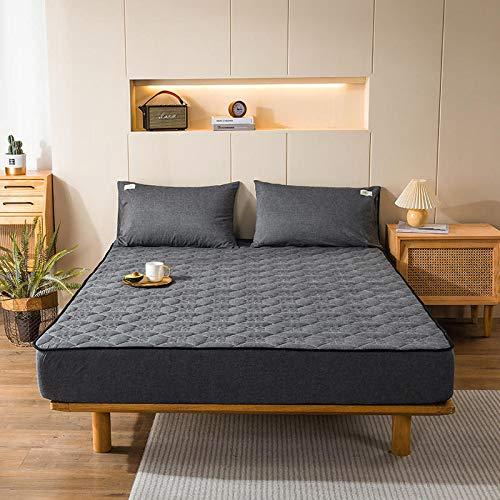 haiba Protector de colchón extra profundo de algodón para falda lateral, tamaño superking, calidad de hotel, funda de almohada extra confort y protección, 48 x 74 cm