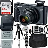 """Canon PowerShot SX740 HS Digital Camera with Essential Accessory Bundle – Includes: SanDisk Ultra 64GB SD Memory Card, Extended Life Replacement Battery, Carrying Case, 57"""" Professional Tripod & More"""