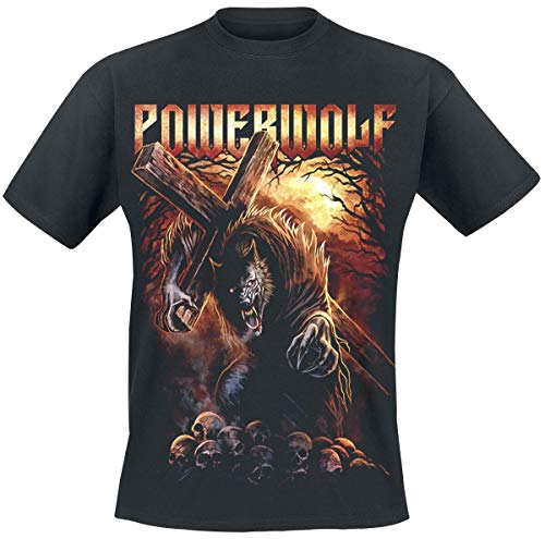 Powerwolf Via Dolorosa Männer T-Shirt schwarz XL 100% Baumwolle Band-Merch, Bands