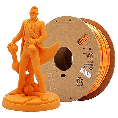 PLA-Filament 1,75mm 3D-Druckfilament-PLA für 3D-Drucker 1kg 1 Spool-Orange