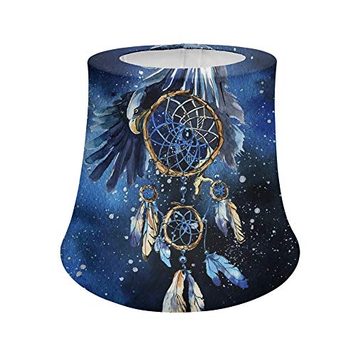 Woisttop Sombras de lámpara de mesa Hippie Hardware, para luz de mesa, luz de suelo, decoración del hogar (patrón de águila y atrapasueños)