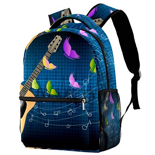 LORVIES - Zaino per chitarre musicali, volanti, con farfalle colorate