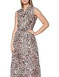 Pinko Women's SFRONTATO Casual Dress, Zl3_Bianco/Marron, UK 10.5